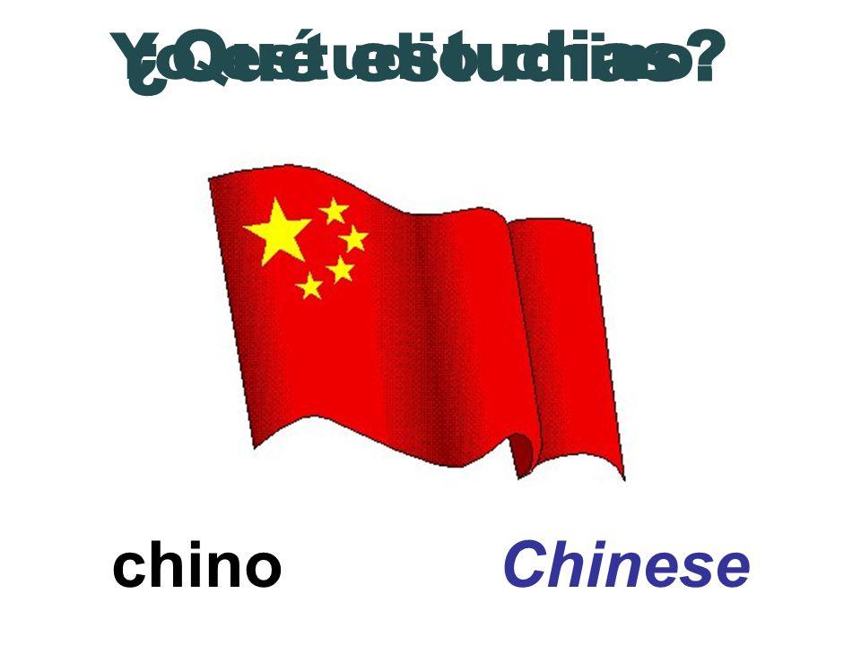 ¿Qué estudias Yo estudio chino. chino Chinese