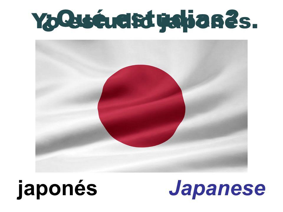 ¿Qué estudias Yo estudio japonés. japonés Japanese