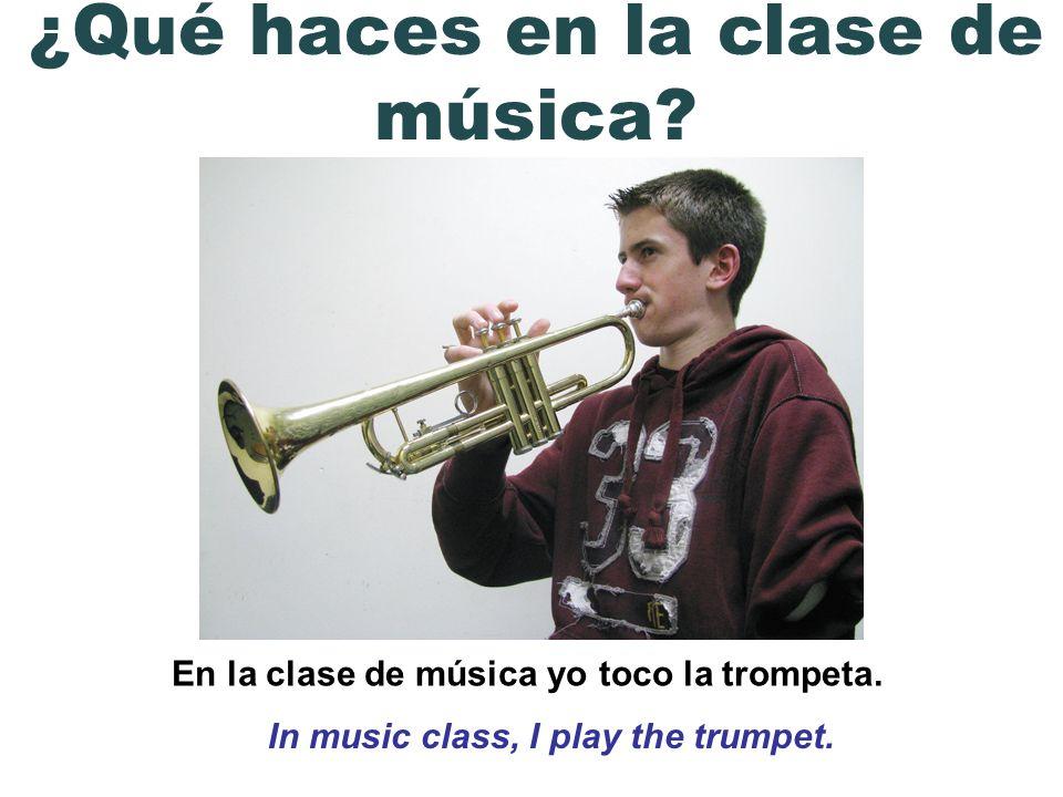 ¿Qué haces en la clase de música