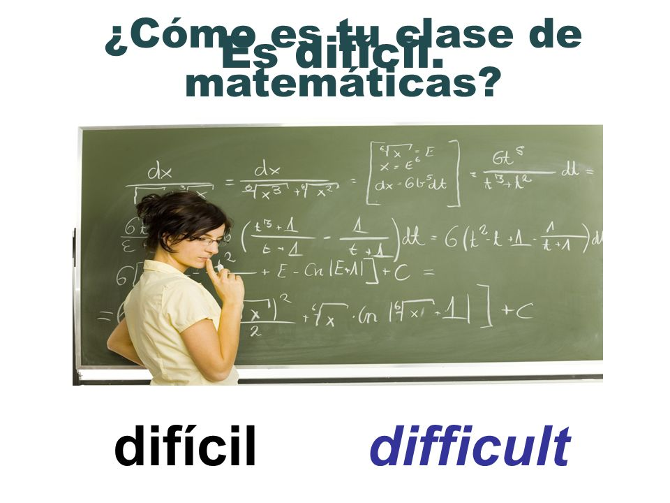 ¿Cómo es tu clase de matemáticas
