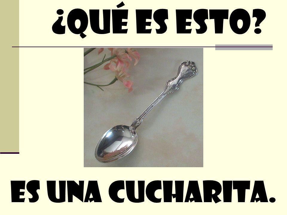 ¿quÉ Es esto Es Una cucharita.
