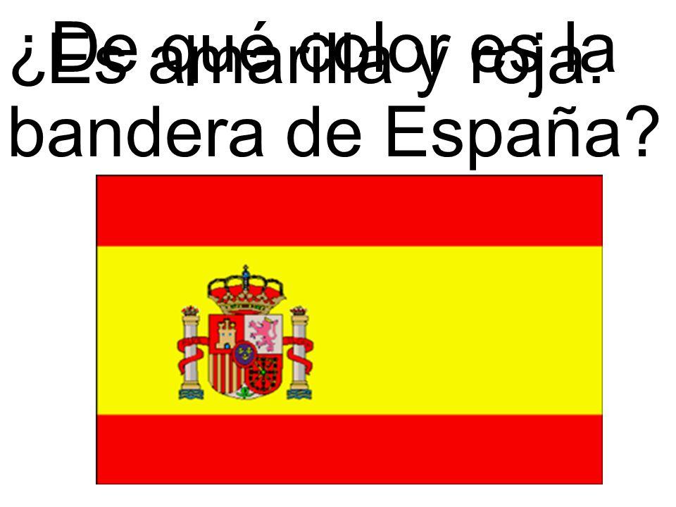 ¿De qué color es la bandera de España
