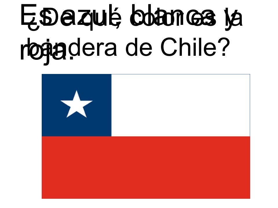 Es azul, blanca y roja. ¿De qué color es la bandera de Chile