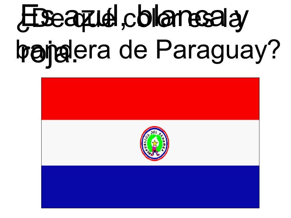 Es azul, blanca y roja. ¿De qué color es la bandera de Paraguay
