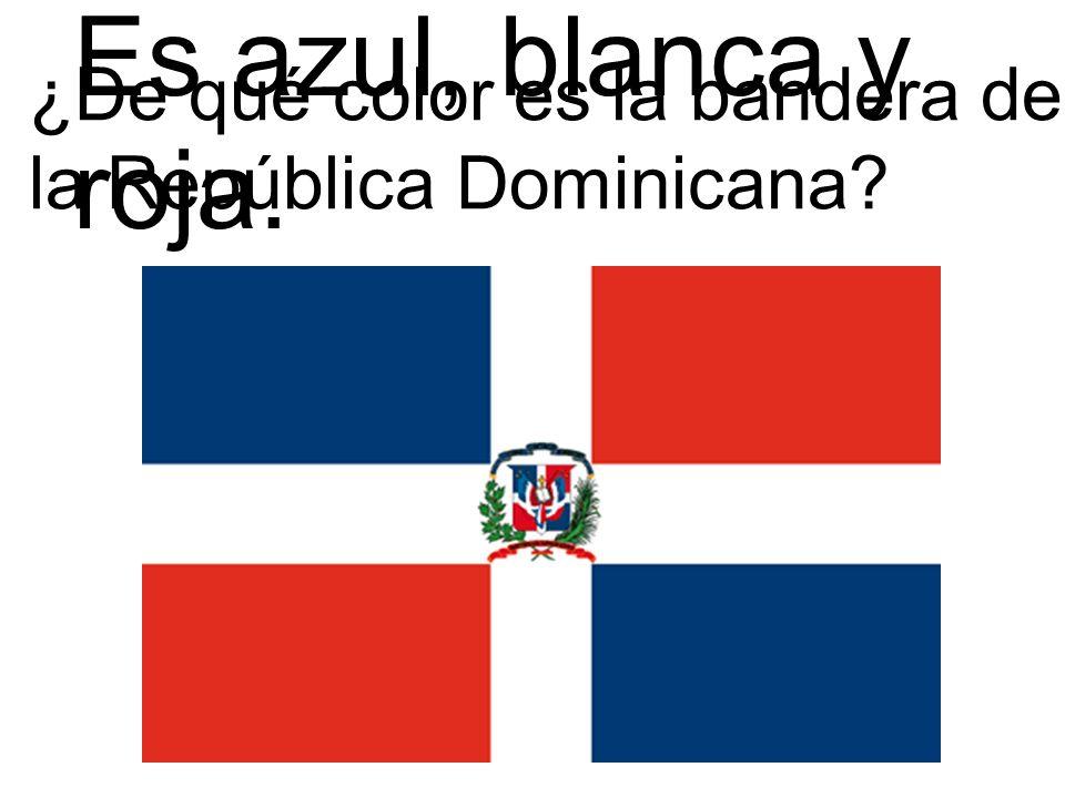 Es azul, blanca y roja. ¿De qué color es la bandera de la República Dominicana