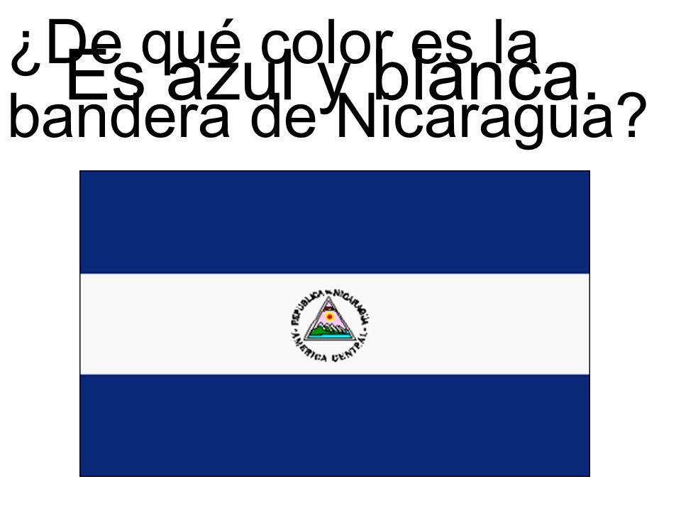 ¿De qué color es la bandera de Nicaragua