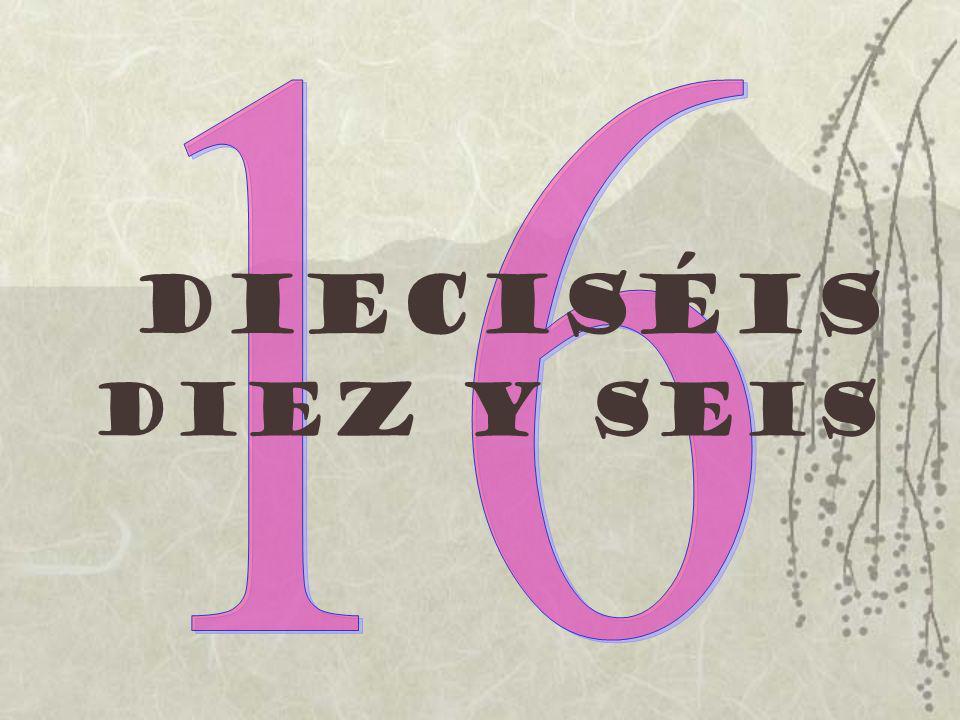 16 dieciséis Diez y seis