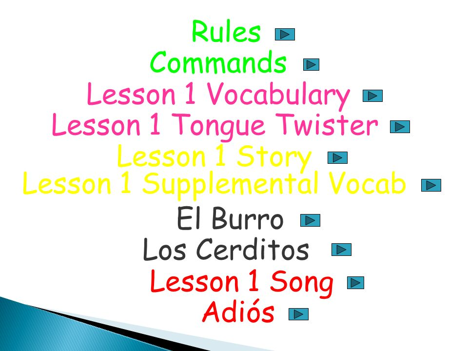 Lesson 1 Supplemental Vocab