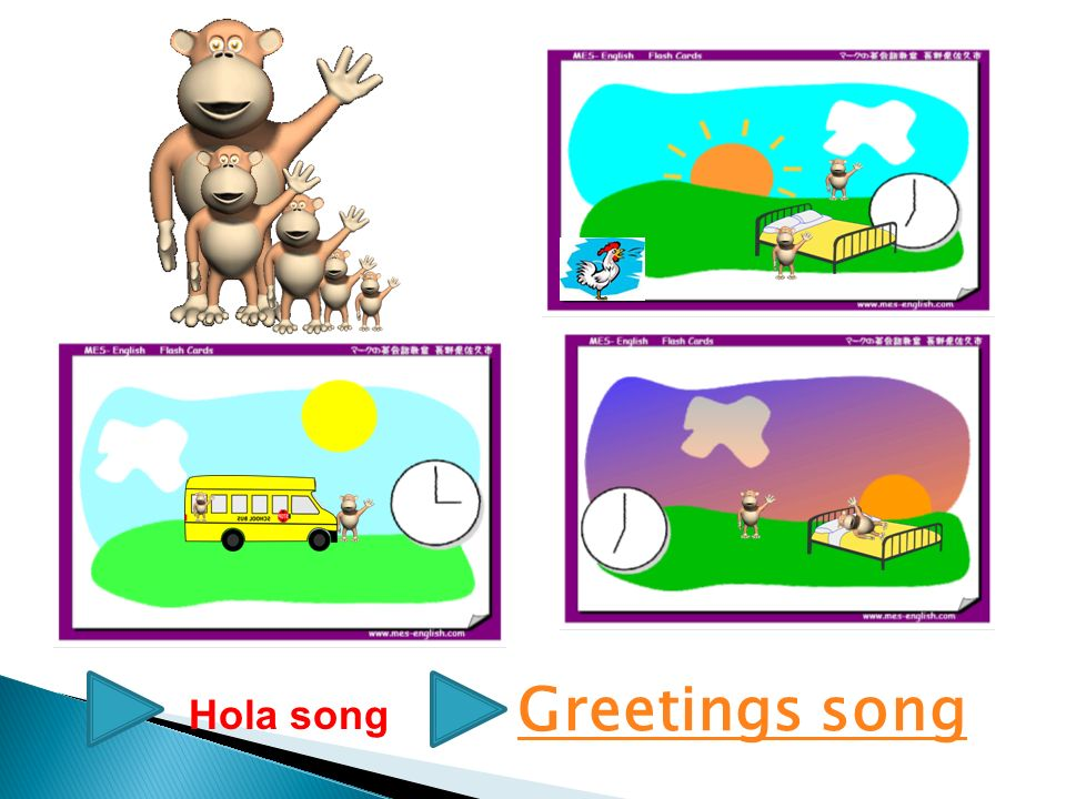 Greetings song Hola song