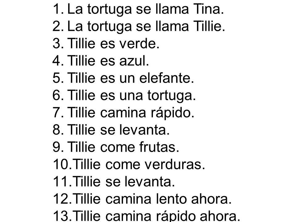 La tortuga se llama Tina.