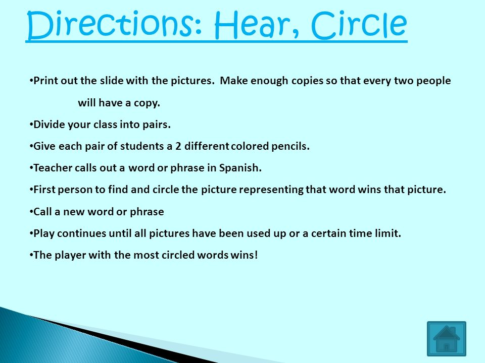 Directions: Hear, Circle