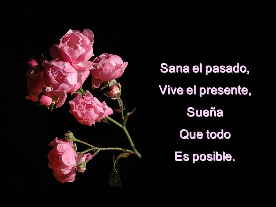 Sana el pasado, Vive el presente, Sueña Que todo Es posible.