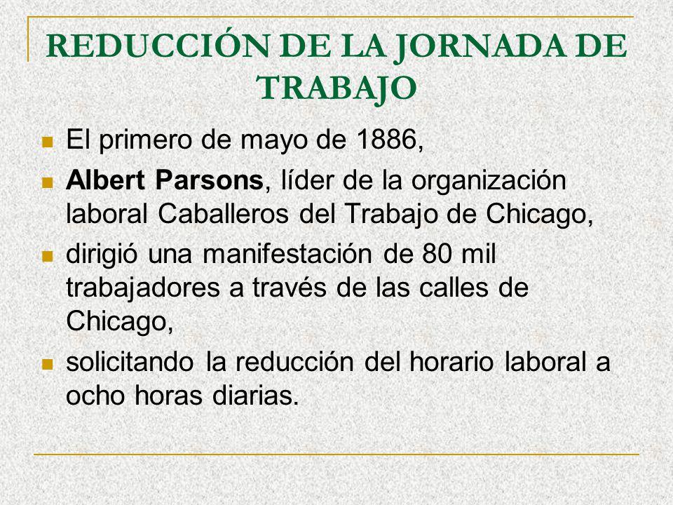 REDUCCIÓN DE LA JORNADA DE TRABAJO