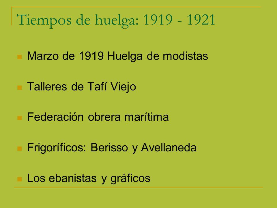 Tiempos de huelga: 1919 - 1921 Marzo de 1919 Huelga de modistas