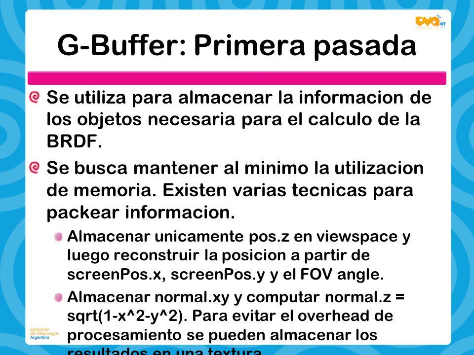 G-Buffer: Primera pasada