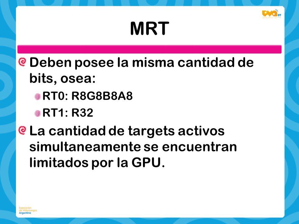 MRT Deben posee la misma cantidad de bits, osea:
