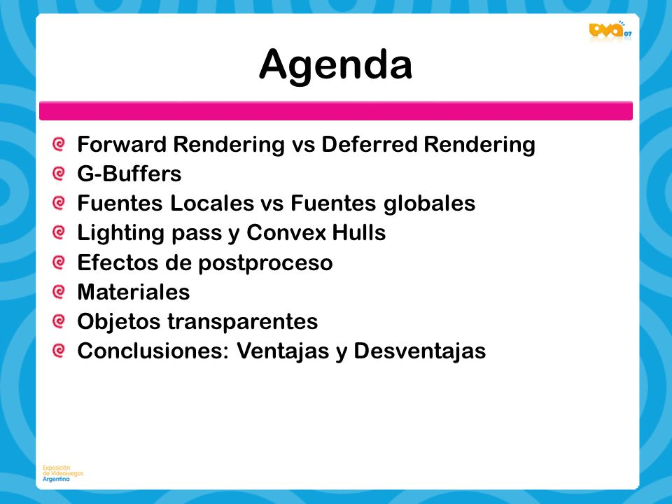 Agenda Forward Rendering vs Deferred Rendering G-Buffers