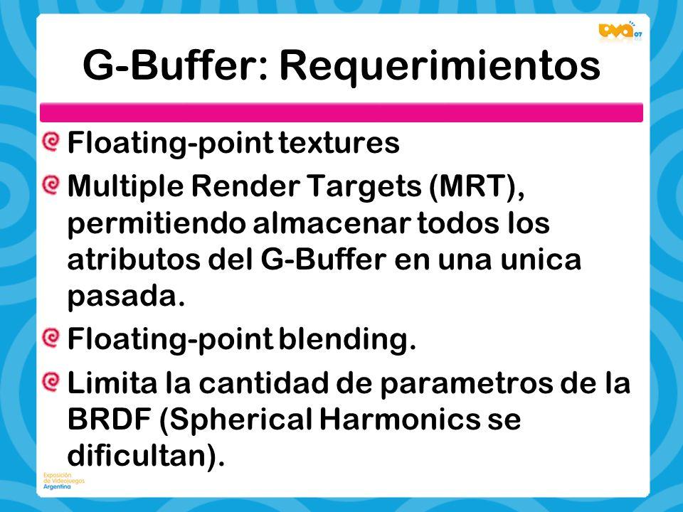 G-Buffer: Requerimientos