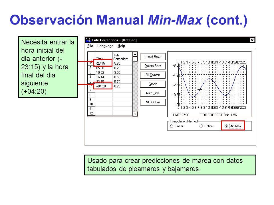 Observación Manual Min-Max (cont.)