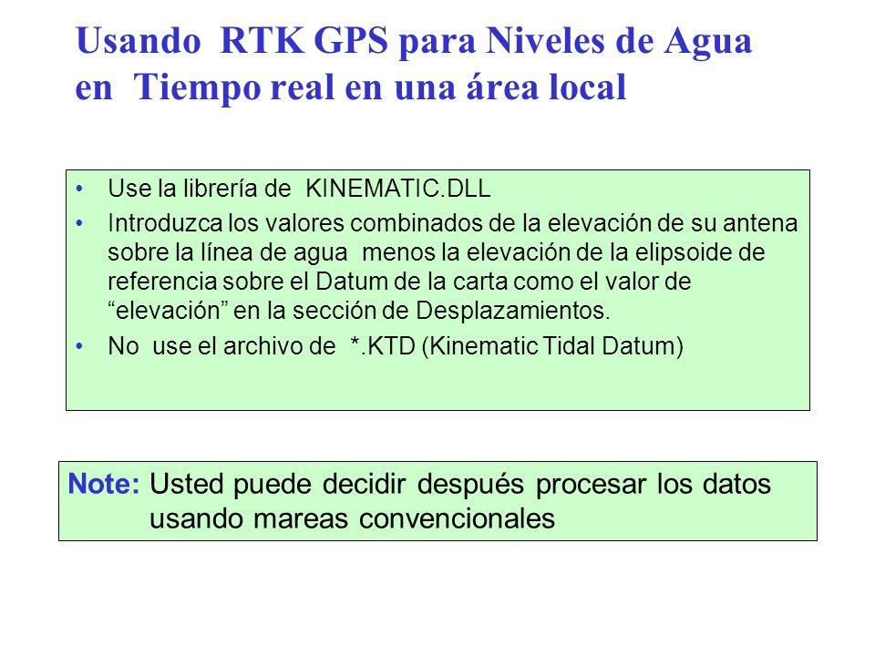 Usando RTK GPS para Niveles de Agua en Tiempo real en una área local