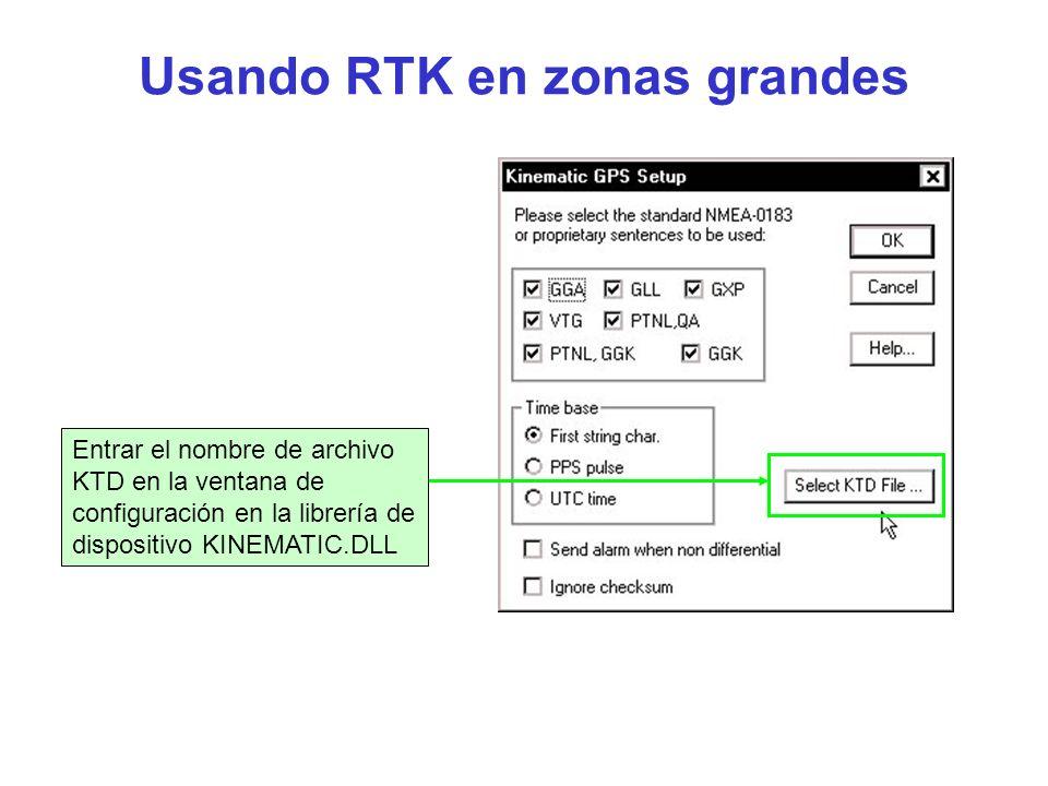 Usando RTK en zonas grandes