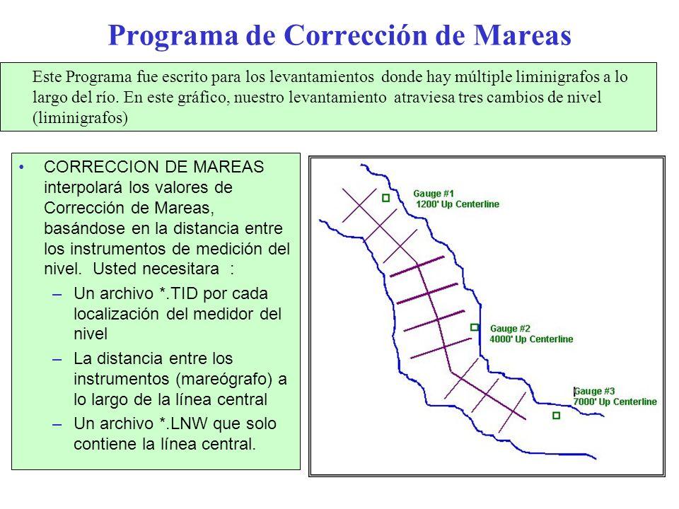 Programa de Corrección de Mareas