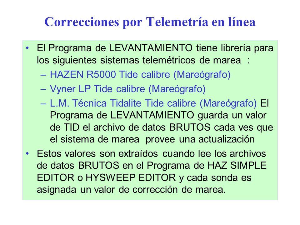 Correcciones por Telemetría en línea