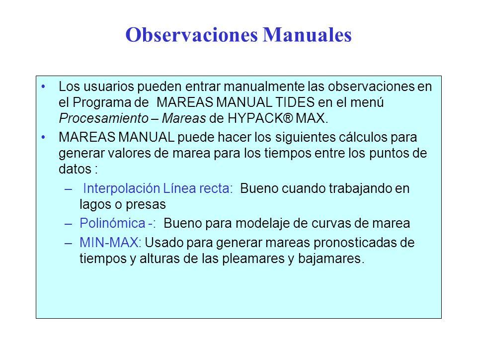 Observaciones Manuales