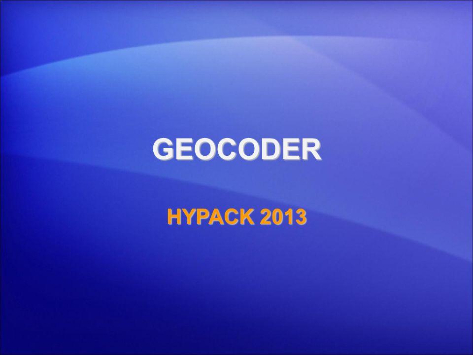 GEOCODER HYPACK 2013 1