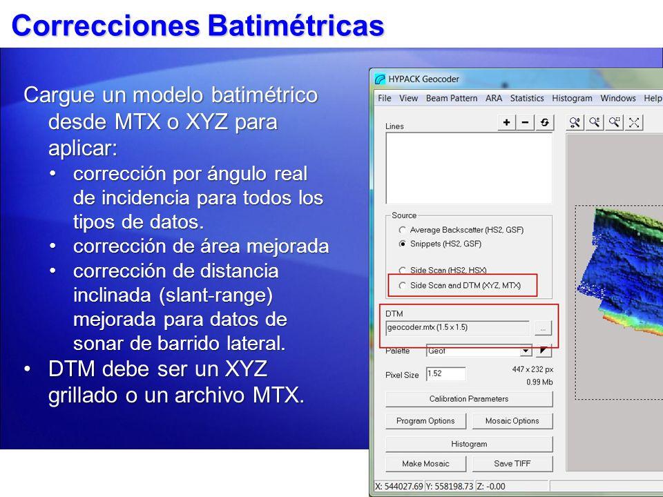 Correcciones Batimétricas