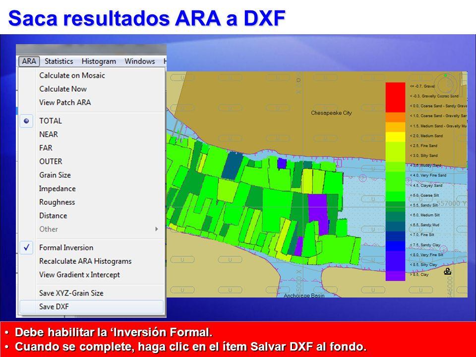 Saca resultados ARA a DXF