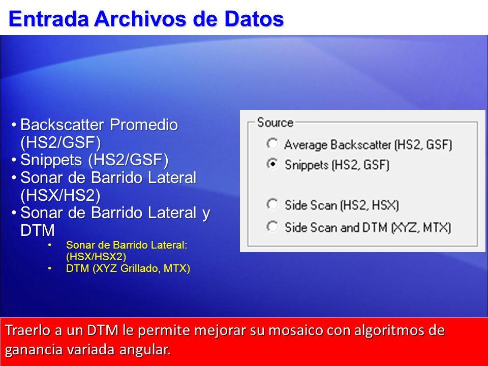 Entrada Archivos de Datos