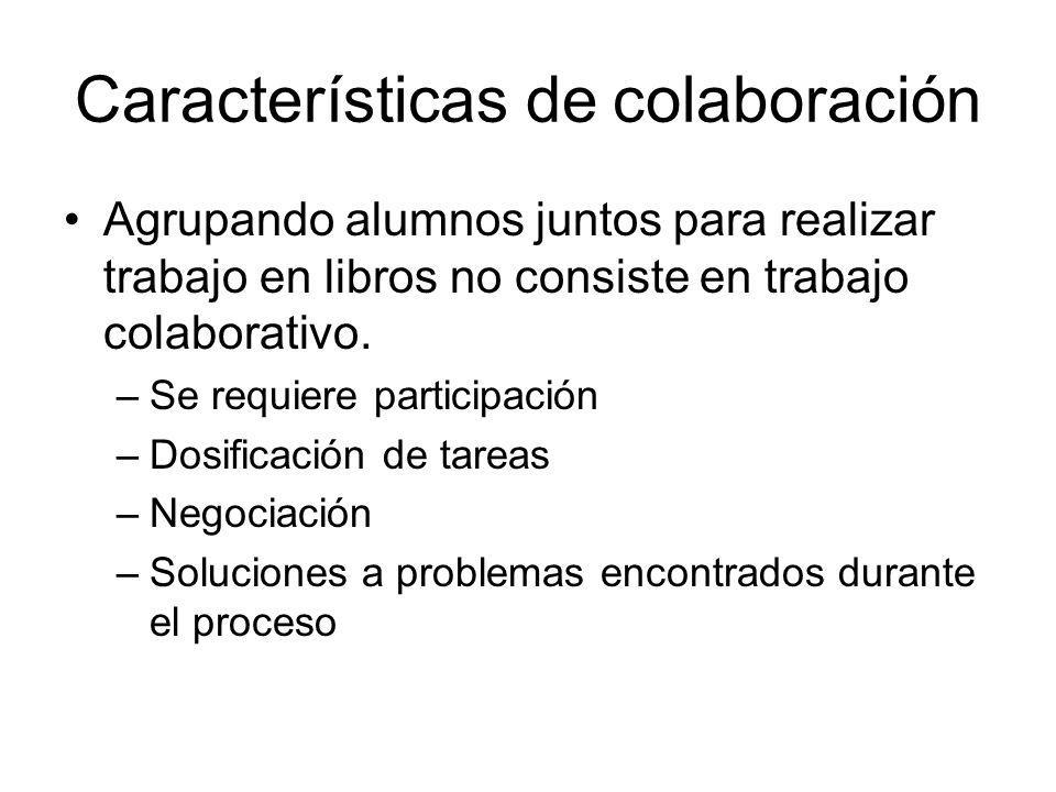 Características de colaboración