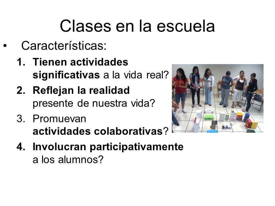 Clases en la escuela Características: