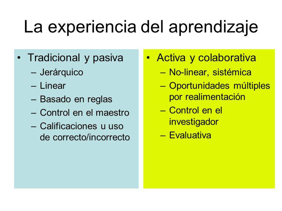 La experiencia del aprendizaje