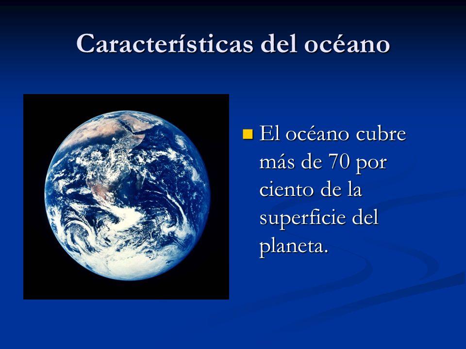 Características del océano