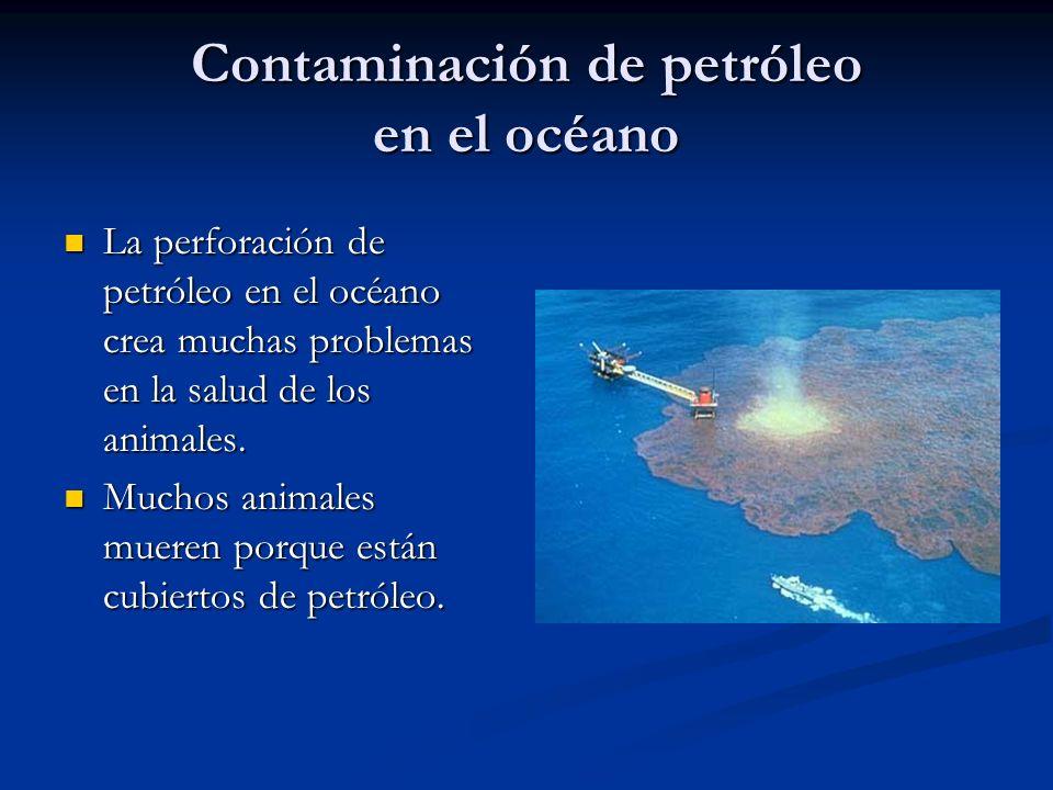 Contaminación de petróleo en el océano