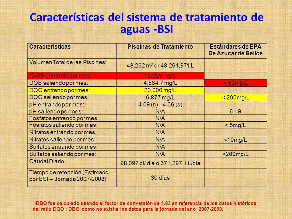 Características del sistema de tratamiento de aguas -BSI