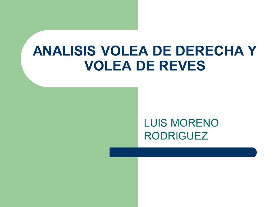 ANALISIS VOLEA DE DERECHA Y VOLEA DE REVES
