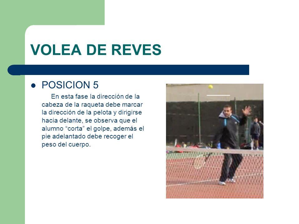 VOLEA DE REVES POSICION 5