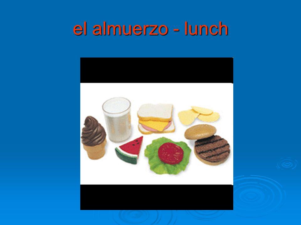 el almuerzo - lunch