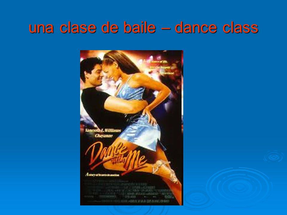 una clase de baile – dance class