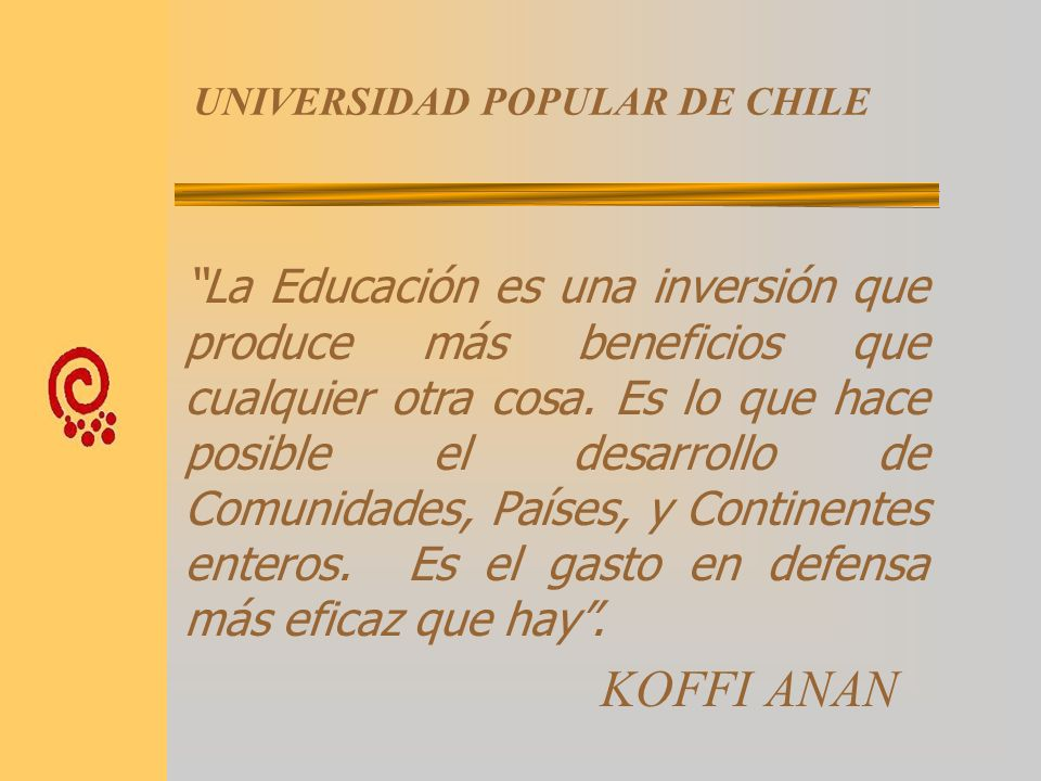 UNIVERSIDAD POPULAR DE CHILE