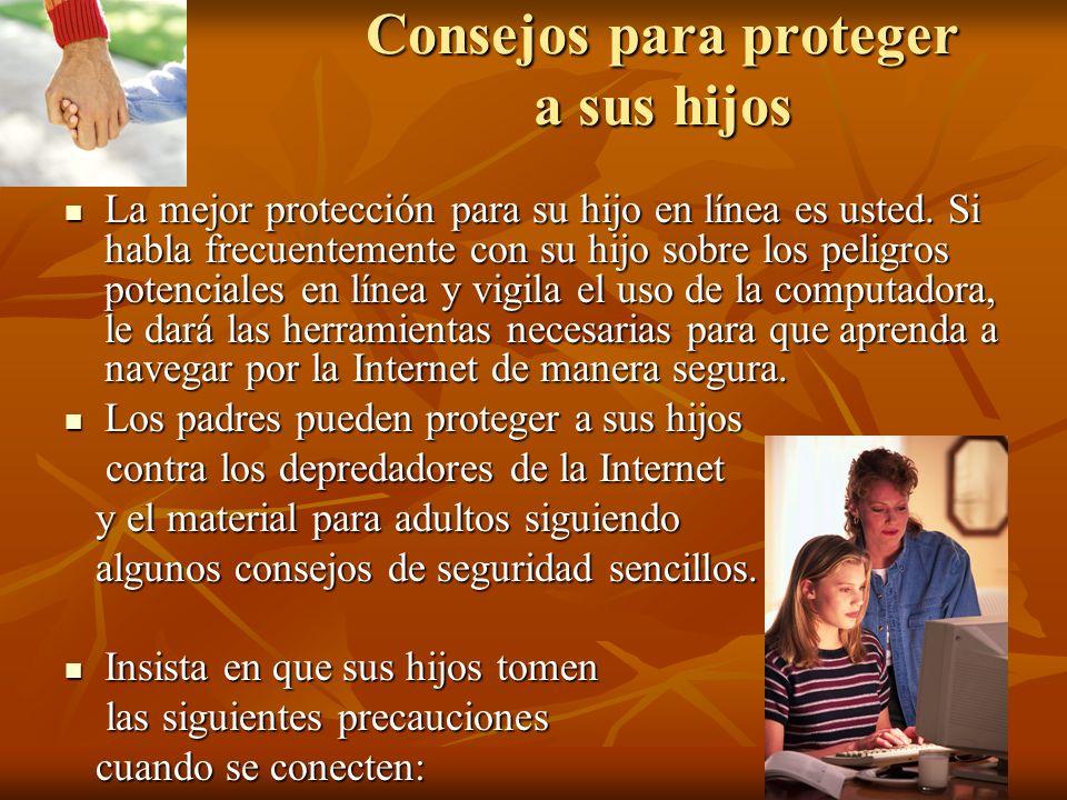 Consejos para proteger a sus hijos