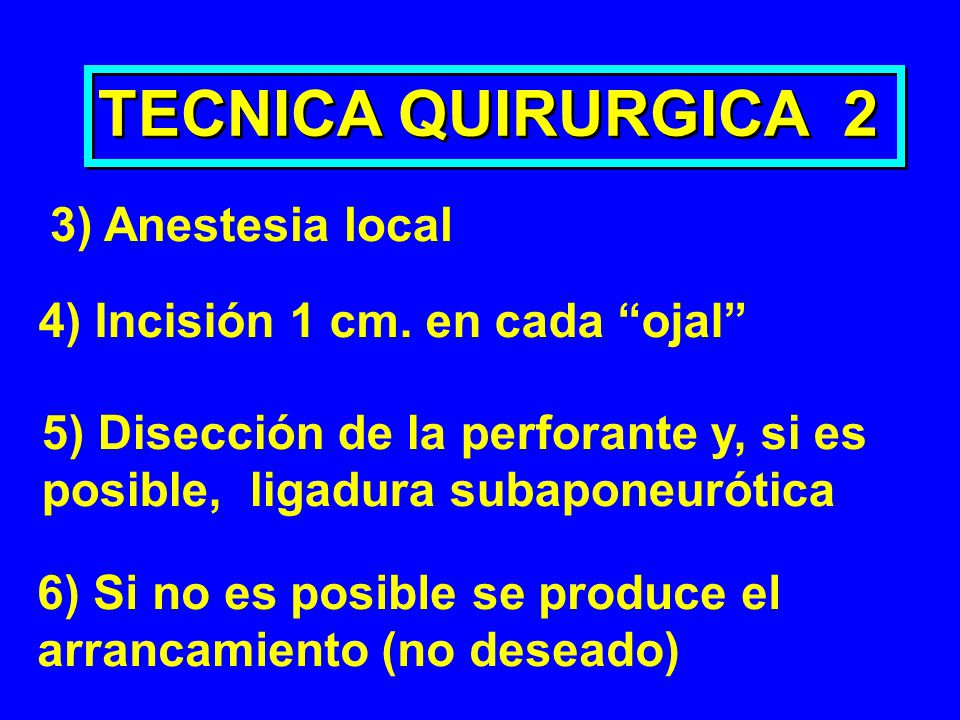 TECNICA QUIRURGICA 2 3) Anestesia local