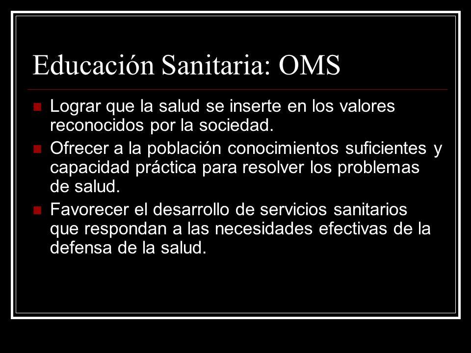 Educación Sanitaria: OMS
