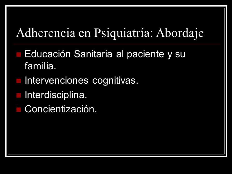 Adherencia en Psiquiatría: Abordaje