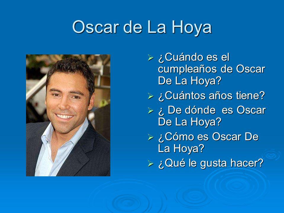 Oscar de La Hoya ¿Cuándo es el cumpleaños de Oscar De La Hoya