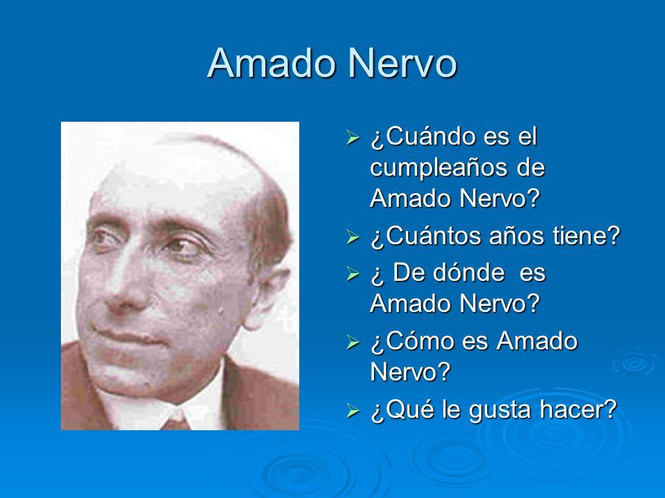 Amado Nervo ¿Cuándo es el cumpleaños de Amado Nervo