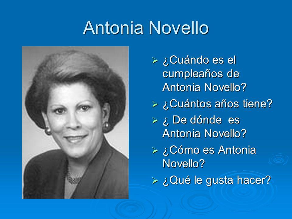 Antonia Novello ¿Cuándo es el cumpleaños de Antonia Novello
